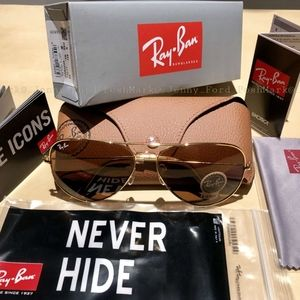 Ray-Ban Aviator Brown Lens / Gold Frame